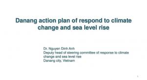 Danang action plan of respond to climate change and sea level rise