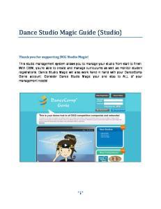 Dance Studio Magic Guide (Studio)