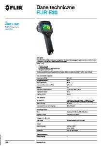 Dane techniczne FLIR E30