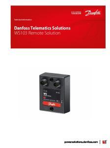 Danfoss Telematics Solutions WS103 Remote Solution