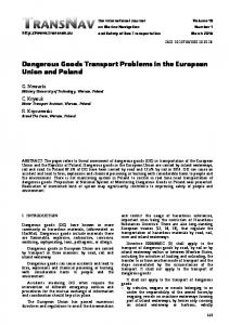 Dangerous Goods Transport Problems in the European Union and Poland