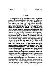 DANIEL 1:1 1 DANIEL 1:10 DANIEL