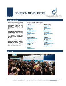 DANMON NEWSLETTER IBC 2014 OCT. 2014