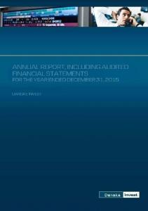DANSKE INVEST. A Luxembourg based mutual investment fund. Annual Report, including Audited Financial Statements. as at December 31, 2015
