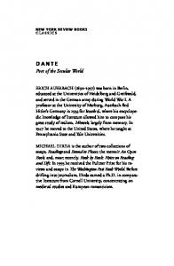 DANTE. Poet of the Secular World