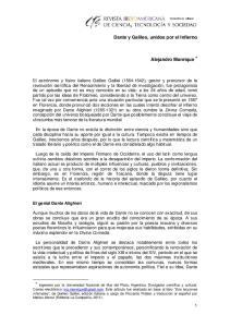 Dante y Galileo, unidos por el Infierno. Alejandro Manrique