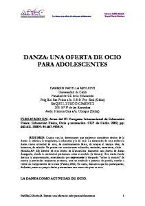 DANZA: UNA OFERTA DE OCIO PARA ADOLESCENTES