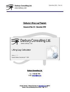 Darbury Lifting Lug Program
