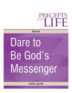 Dare to Be God s Messenger
