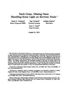 Dark Costs, Missing Data: Shedding Some Light on Services Trade