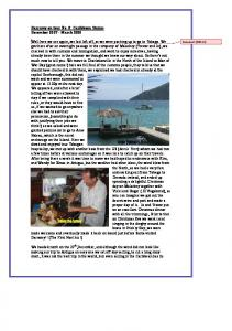 Darramy on tour No. 8: Caribbean Stories December March 2008