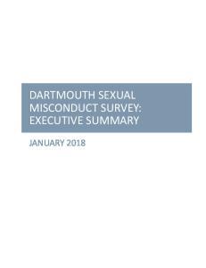 DARTMOUTH SEXUAL MISCONDUCT SURVEY: EXECUTIVE SUMMARY
