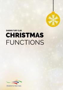 DARWIN TURF CLUB CHRISTMAS FUNCTIONS