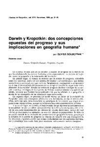 Darwin y Kropotkin: dos concepciones opuestas del progreso y sus implicaciones en geografia humana*
