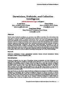 Darwinism, Hofstede, and Collective Intelligence