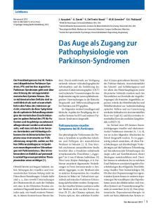 Das Auge als Zugang zur Pathophysiologie von Parkinson-Syndromen