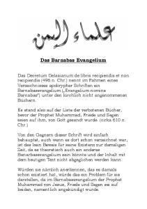 Das Barnabas Evangelium