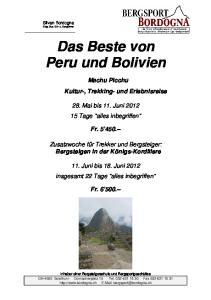 Das Beste von Peru und Bolivien