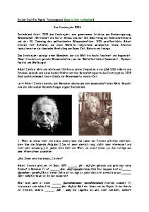 Das Einsteinjahr 2005