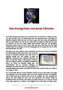 Das Evangelium von Jesus Christus