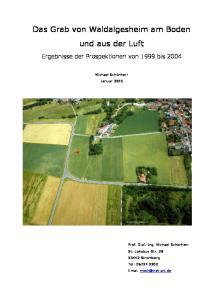 Das Grab von Waldalgesheim am Boden und aus der Luft