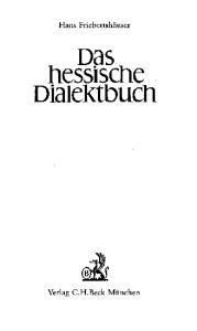 Das hessische Dialektbuch