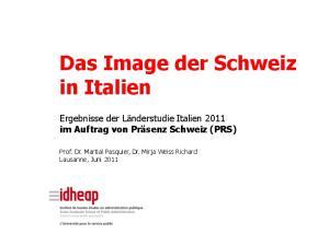 Das Image der Schweiz in Italien