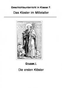 Das Kloster im Mittelalter