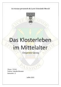 Das Klosterleben im Mittelalter