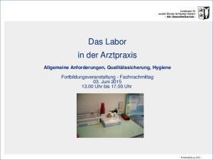 Das Labor in der Arztpraxis