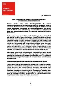 DAS LABORFAHRZEUG RENAULT TRUCKS OPTIFUEL LAB 2 HAT EINE EXZELLENTE ENERGIEBILANZ