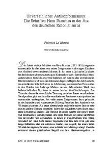 Das Leben und die Schriften von Hans Paasche ( ) zeigen die