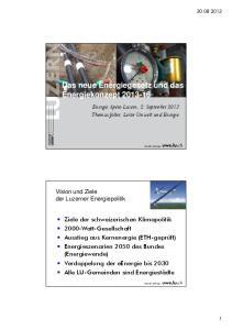 Das neue Energiegesetz und das Energiekonzept