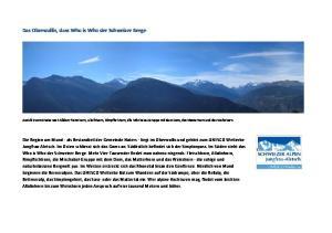 Das Oberwallis, dass Who is Who der Schweizer Berge