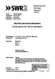 Das Paris des Charles Baudelaire Auf den Spuren der