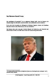 Das Phänomen Donald Trump