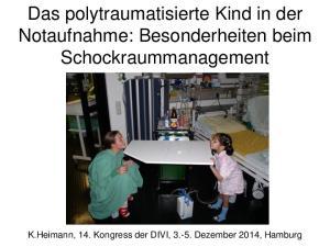 Das polytraumatisierte Kind in der Notaufnahme: Besonderheiten beim Schockraummanagement