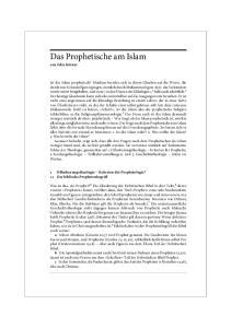 Das Prophetische am Islam