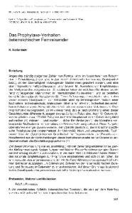 Das Prophylaxe-Verhalten österreichischer Fernreisender