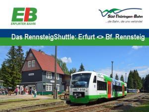 Das RennsteigShuttle: Erfurt  Bf. Rennsteig