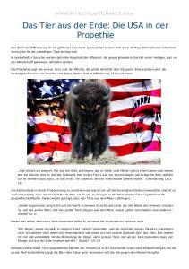 Das Tier aus der Erde: Die USA in der Propethie