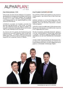 Das Unternehmen: CVS. Das Produkt: ALPHAPLAN ERP