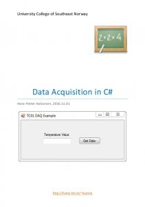 Data Acquisition in C#