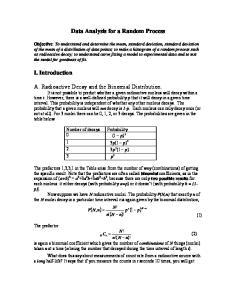 Data Analysis for a Random Process