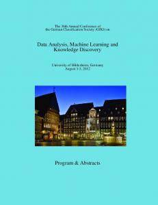 Data Analysis, Machine Learning and Knowledge Discovery
