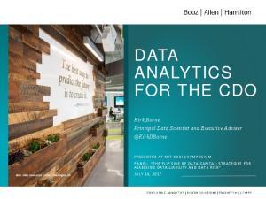 DATA ANALYTICS FOR THE CDO