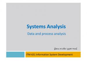Data and process analysis