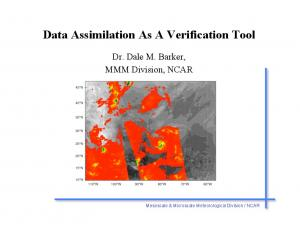 Data Assimilation As A Verification Tool