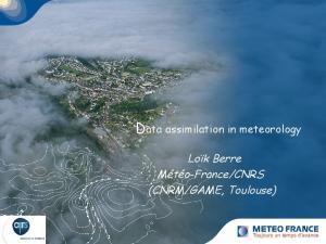 Data assimilation in meteorology Cliquez pour modifier le style des