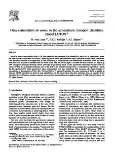 Data assimilation of ozone in the atmospheric transport chemistry model LOTOS